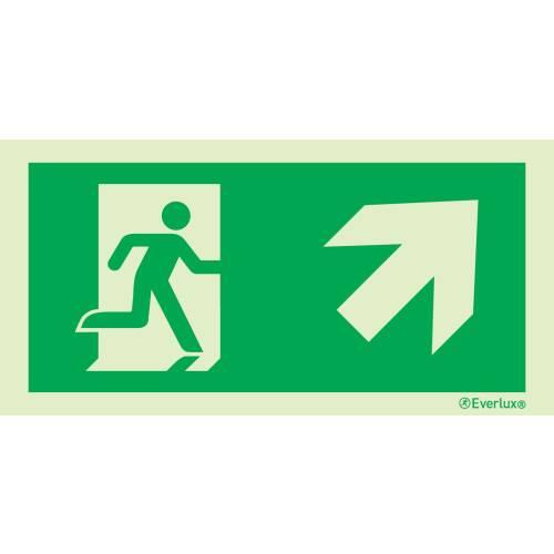 rechts aufwärts - Flucht- und Rettungszeichen ISO 7010
