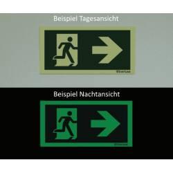 nach rechts - Flucht- und Rettungszeichen