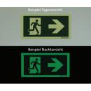 Türgriffhinterlegung links - Flucht- und Rettungszeichen
