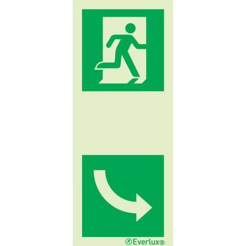 Türgriffhinterlegung rechts - Flucht- und Rettungszeichen