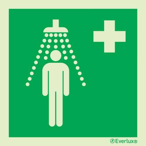 Rettungszeichen Symbole Personennotdusche