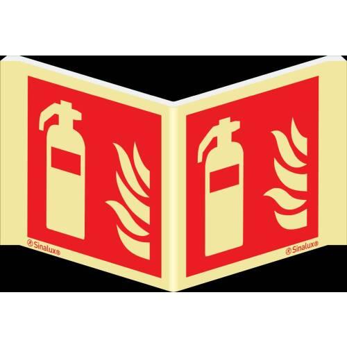 Winkelschild Feuerlöscher ISO 7010
