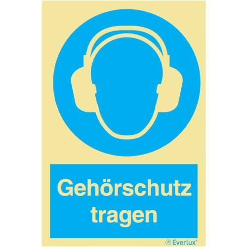 Gebotszeichen Gehörschutz tragen SN EN ISO 7010