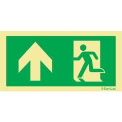 Laufrichtung geradeaus - Flucht- und Rettungszeichen