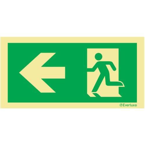 nach links - Flucht- und Rettungszeichen Bodenbeschilderung
