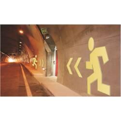 Rettungszeichen für Tunnel Männchen Notausgang