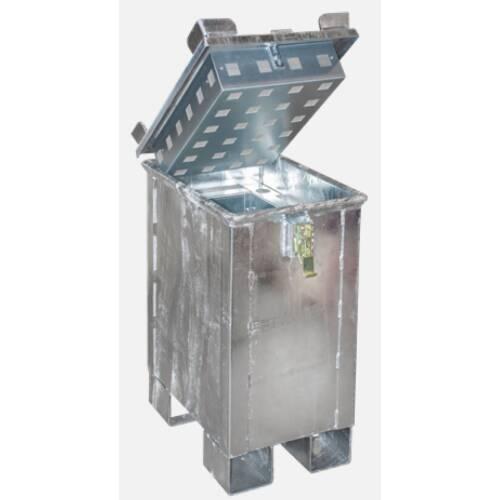 Lagerbehälter für defekte oder gelöschte Akkus