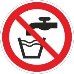 Verbotszeichen - Kein Trinkwasser ISO 7010