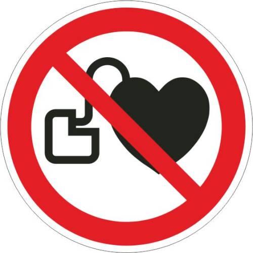 Verbotszeichen - Kein Zutritt für Personen mit Herzschrittmacher ISO 7010