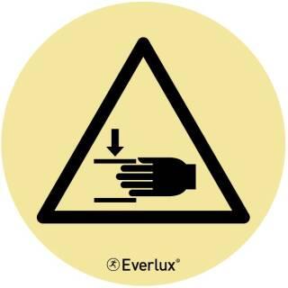 Warnung vor Handverletzungen