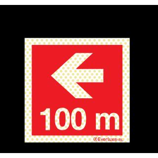 Pfeil nach links 100 Meter