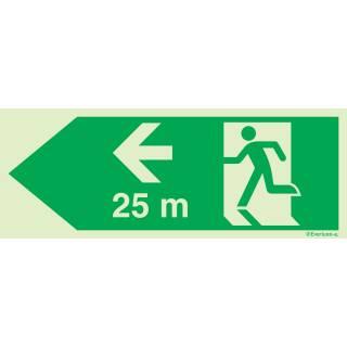 Rettungsweg links 25 Meter