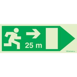 Rettungsweg rechts 25 Meter