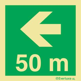 Nach links 50 Meter