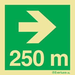 Nach rechts 250 Meter
