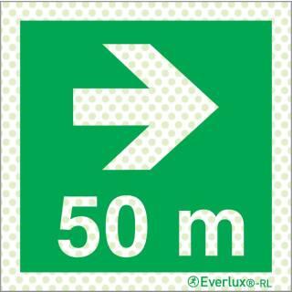 Rechts 50 Meter